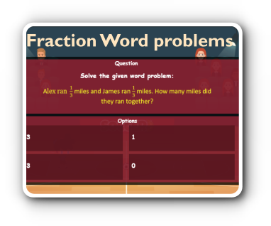 fraction decimal word problem game