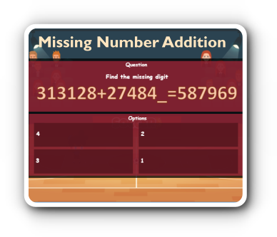 missing number addition game thumbnail