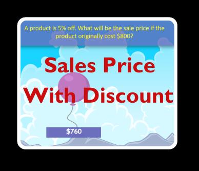 consumer math sale price discount