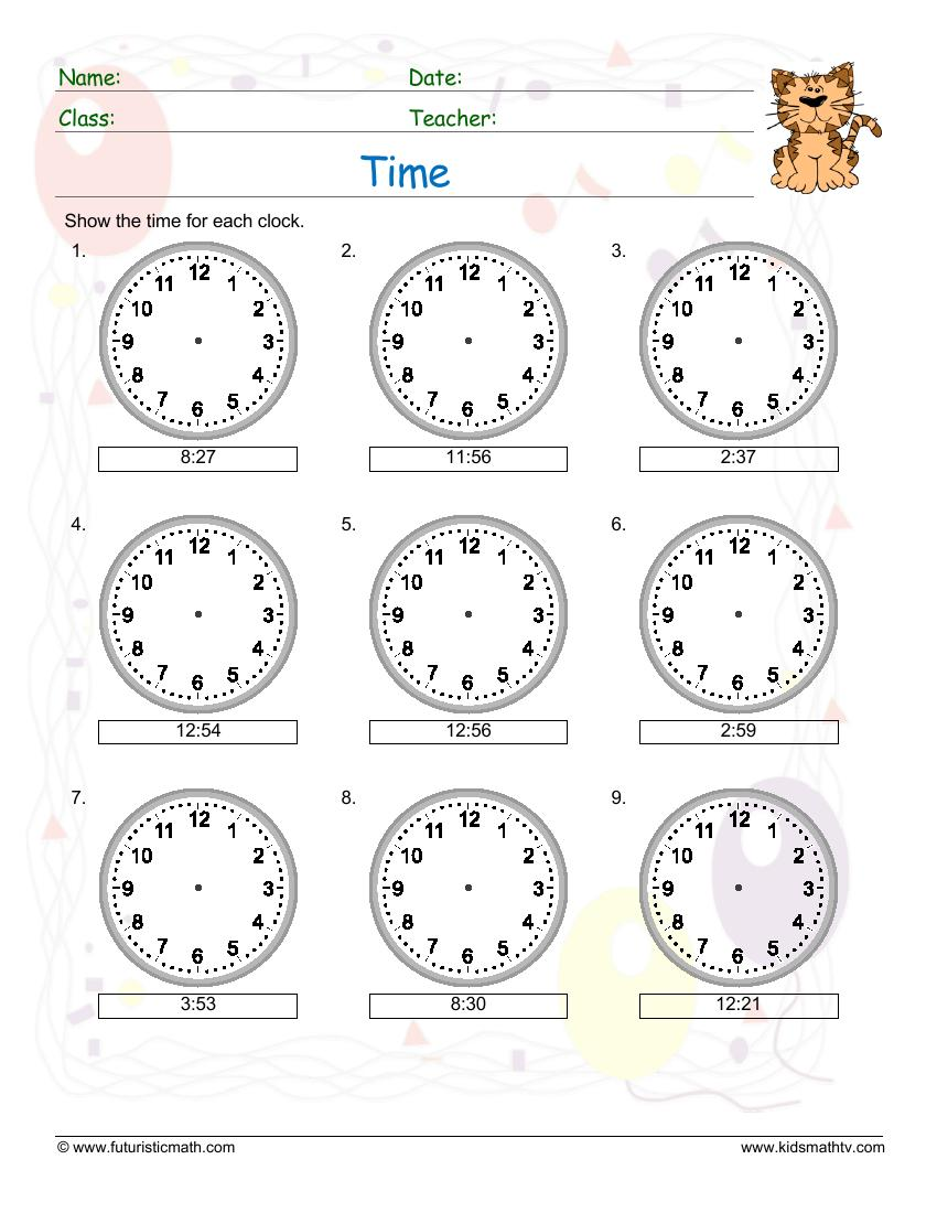 Draw Clock Hands For The Time