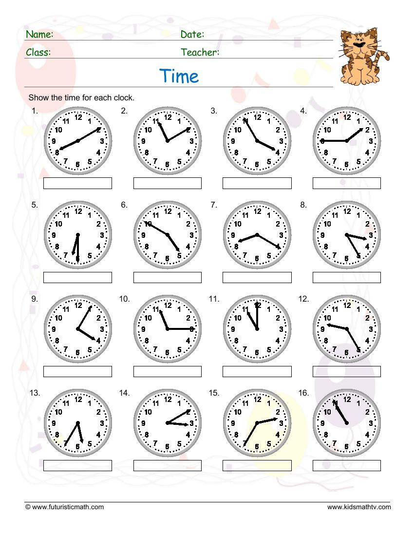 Time 5 Minute Past