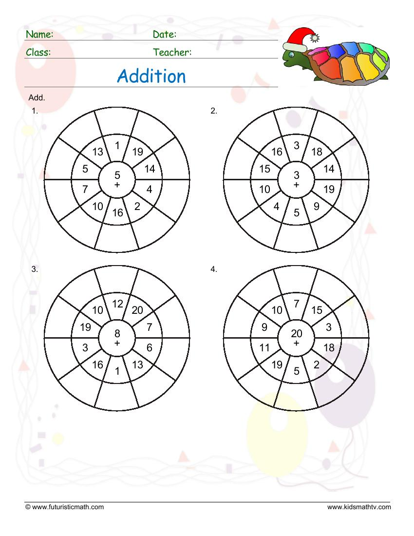 Fraction Addition And Subtraction Fraction Addition Word Problems Make addition circle drill