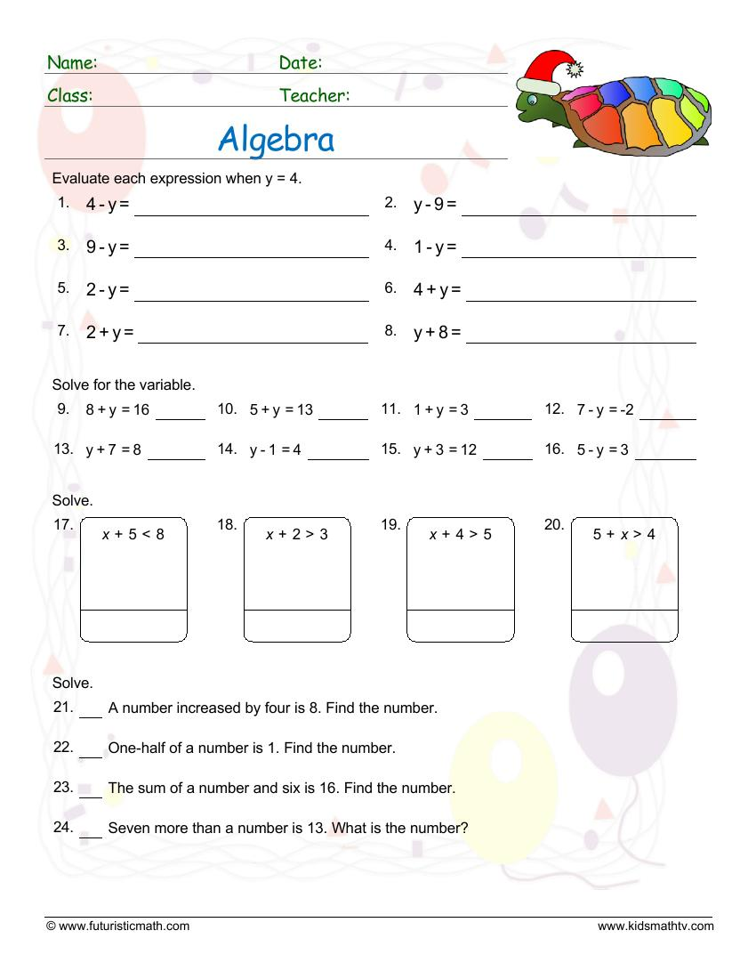 Mixed Algebra Test