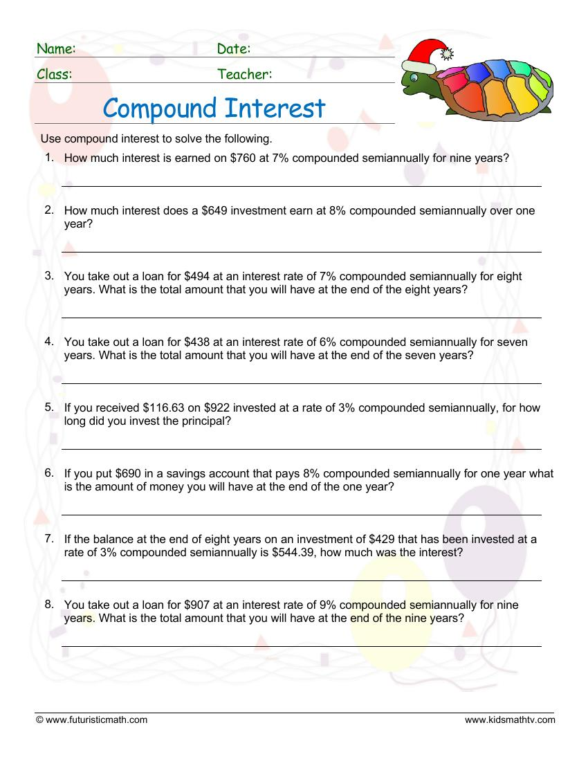 Compound Interest Semiannually