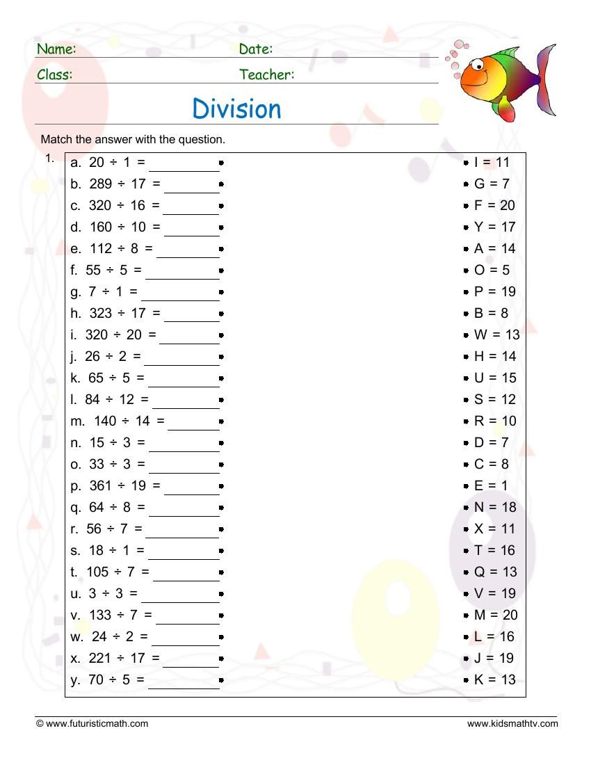 Division Match Up Exercise
