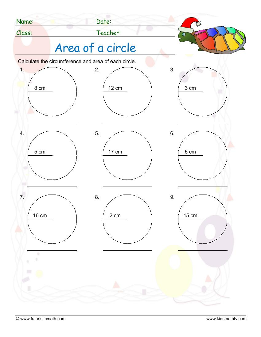 Calculate The Area Of A Circle