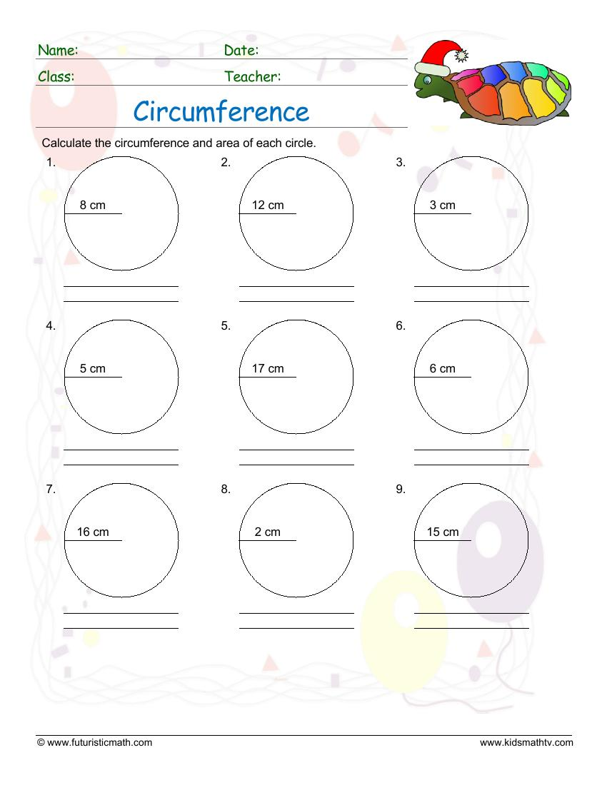 Calculate The Circumference And Area Of Circles