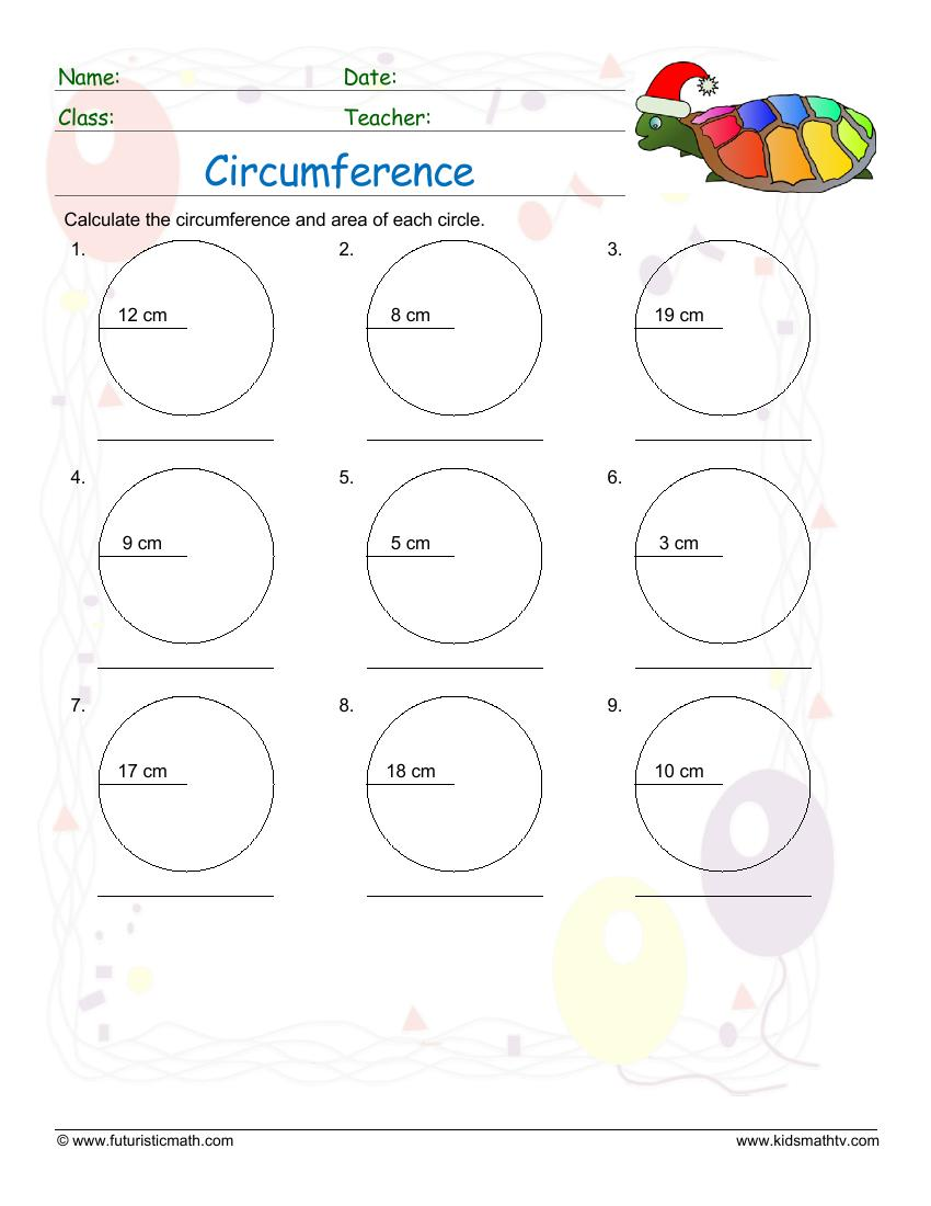 Calculate The Circumference Of Circles