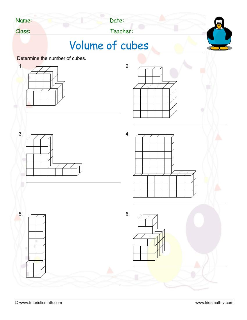 Find The Volume Of Cubes