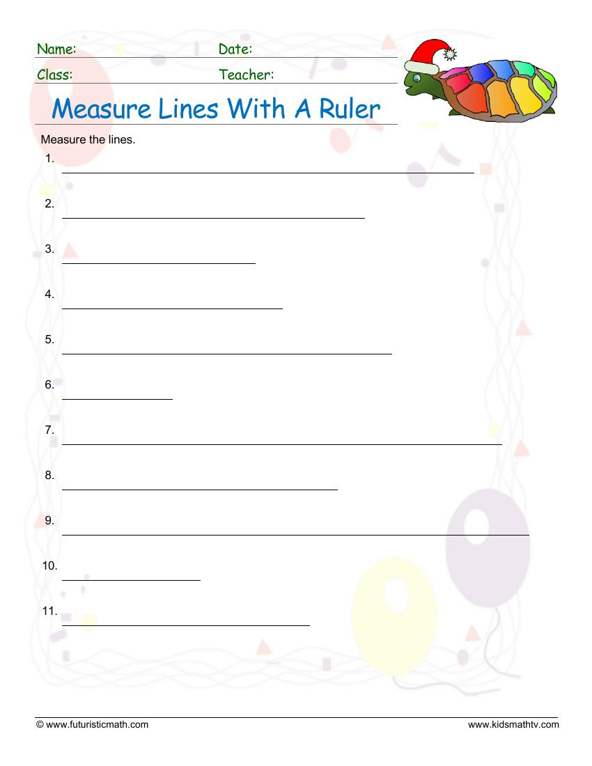 Measure The Lines With A Ruler