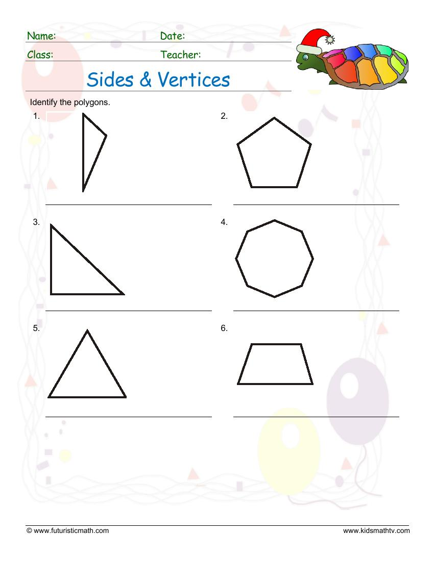 Sides And Vertices Of Polygons