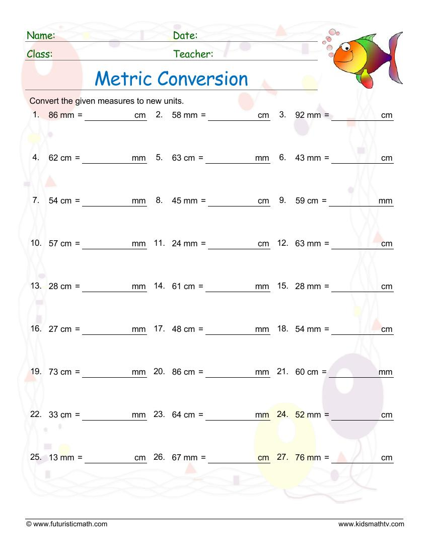 Convert Centimeters To Millimeters