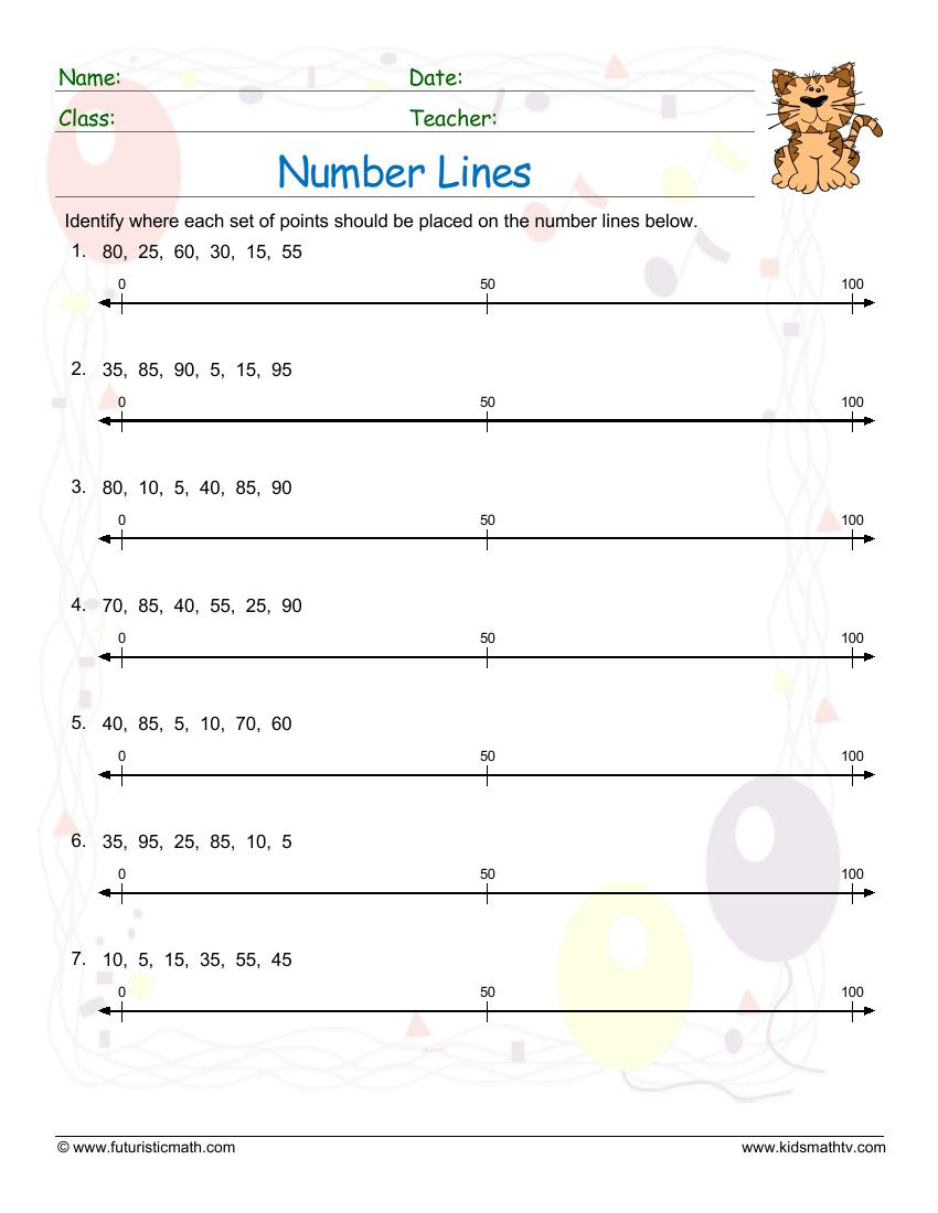 Number Lines With Integers 2