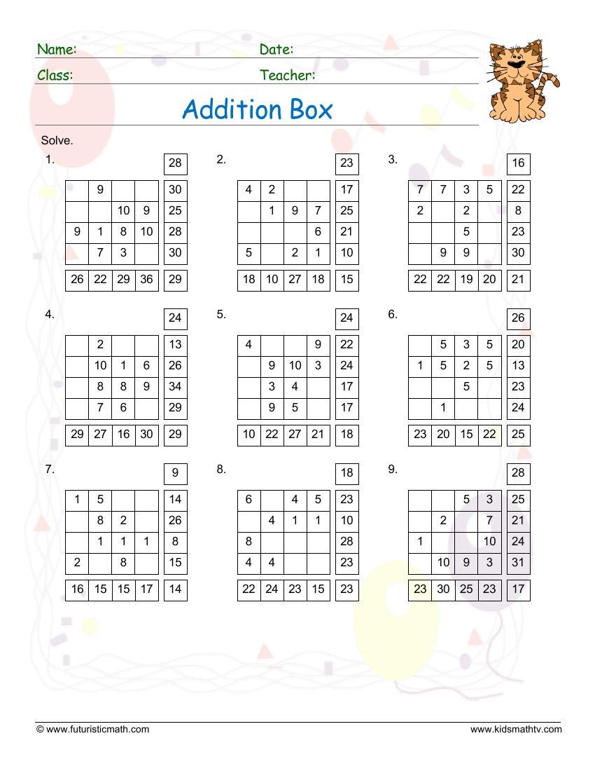 Addition Box
