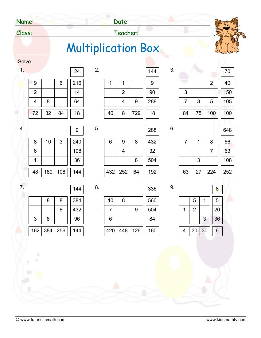 Multiplication Box