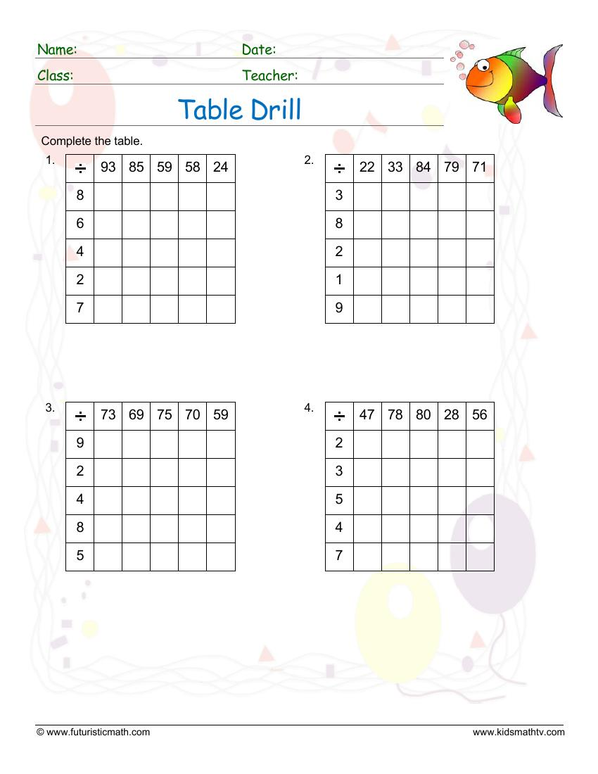 Table Drill Division