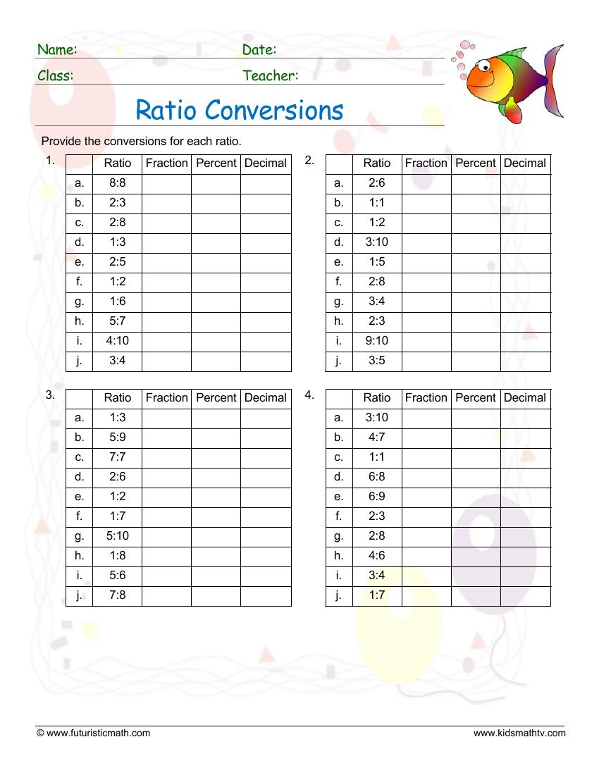 Ratio Coversions 2