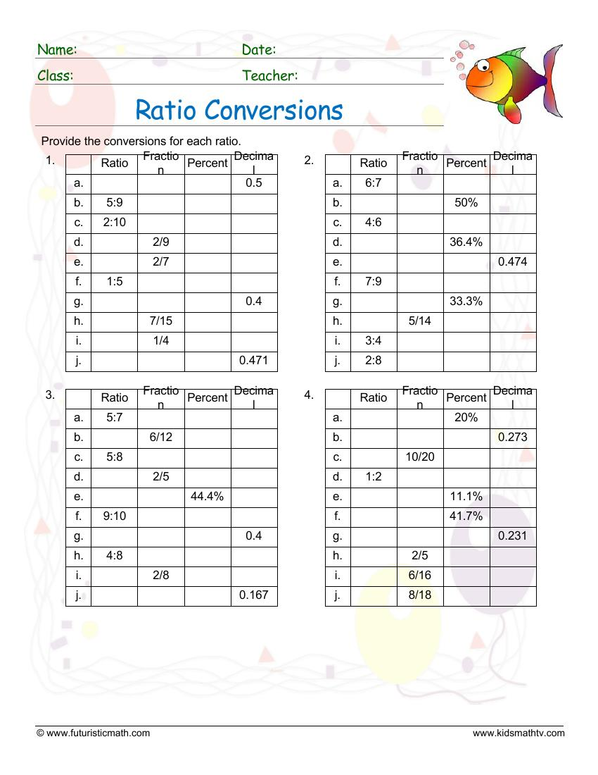 Ratio Coversions